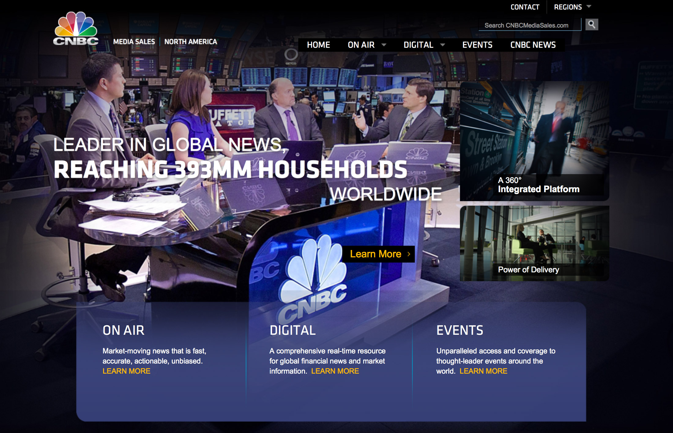 CNBC Media Sales UI Design