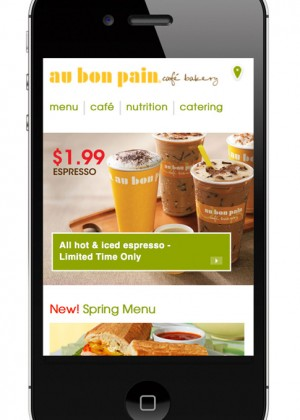 Au Bon Pain UI Design