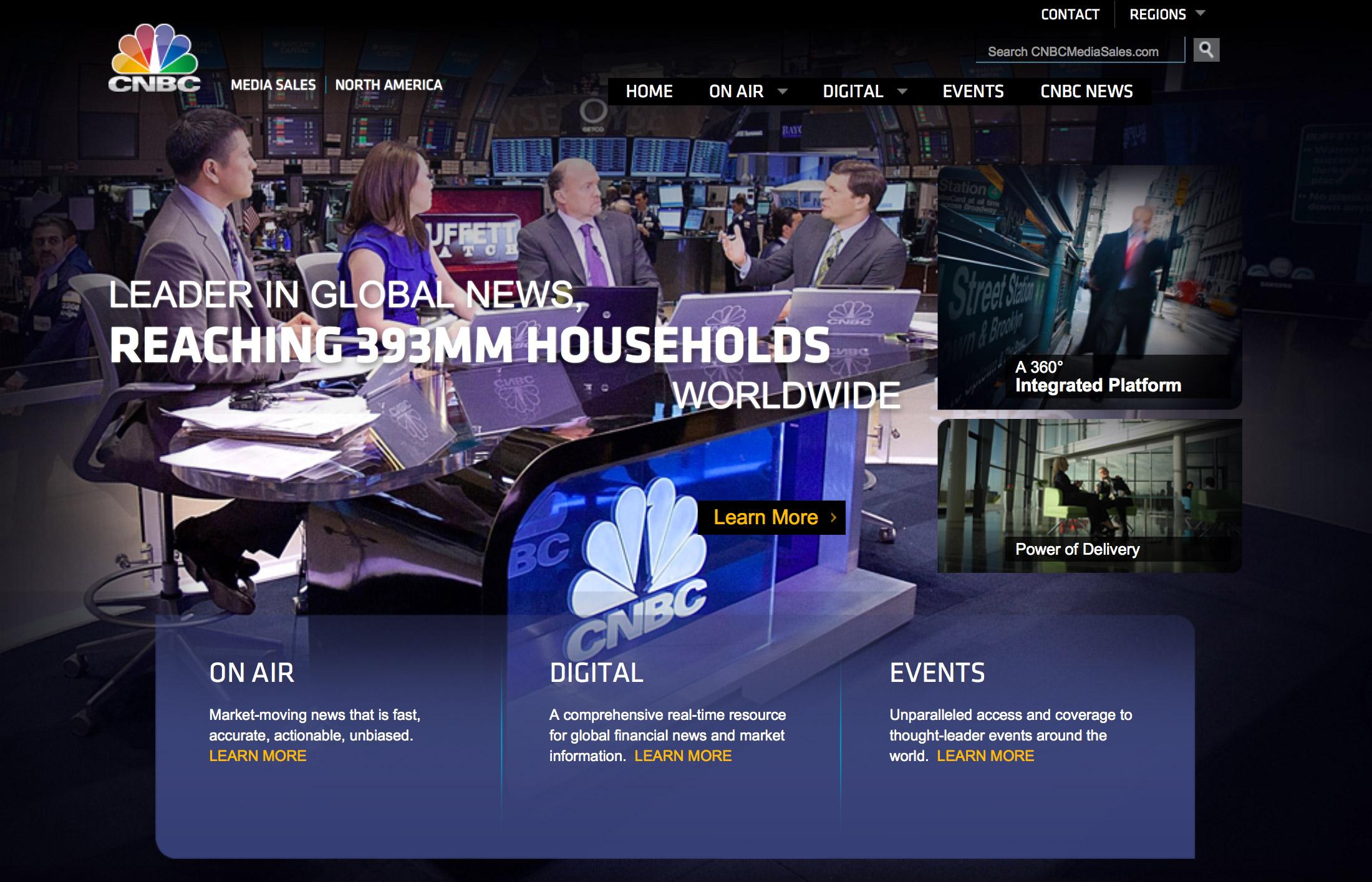 CNBC Media Sales UI Design