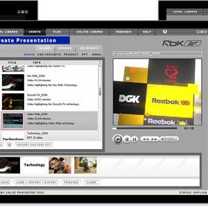 Reebok Presentation UI Design
